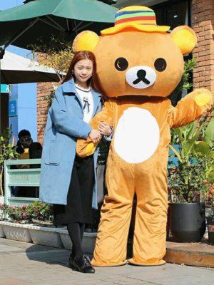 Cho thuê trang phục mascot gấu brown tại Hà Nội