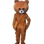 Mascot gau nau gau brown