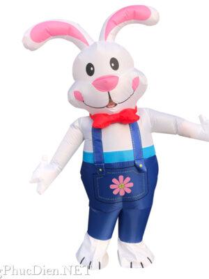 mascot thỏ trắng